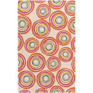 Miranda Pink and Orange Rectangular: 2 Ft x 3 Ft Rug by Clairebella