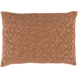 Marielle Mocha and Rust 13 x 19-Inch Pillow with Poly Fill