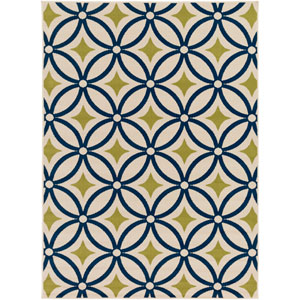 Marina Blue and Green Rectangular: 9 Ft. 3-Inch x 12 Ft. 6-Inch Rug