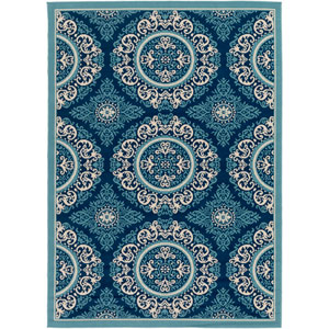 Marina Blue Rectangular: 9 Ft. 3-Inch x 12 Ft. 6-Inch Rug
