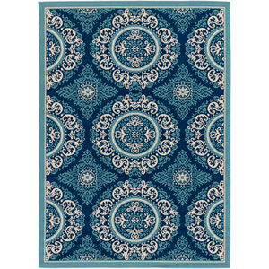 Marina Navy and Slate Rectangular: 2 Ft x 3 Ft Rug