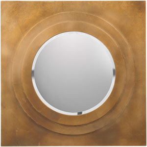 Letcher Brilliant Gold Decorative Round Mirror