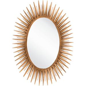 Warren Antique Gold Decorative Oval Mirror