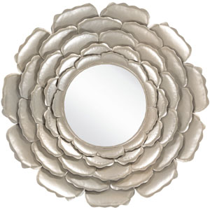 Whitley Champagne Decorative Round Mirror