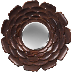 Laurel Antique Bronze Decorative Round Mirror