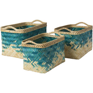 Marshfield Butter and Teal Basket