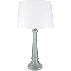 Niall Clear and White One-Light Table Lamp