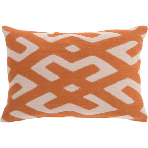 Nairobi Orange and Brown 13-Inch x 19-Inch Pillow Cover