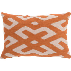 Nairobi Rust and Beige 13 x 19-Inch Pillow with Poly Fill