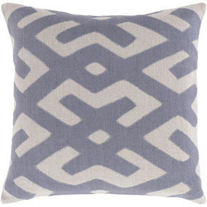 Nairobi Blue and Gray 20-Inch Pillow Cover