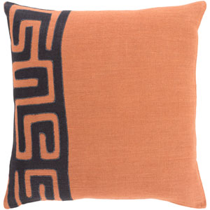 Nairobi Rust and Black 18-Inch Pillow with Poly Fill