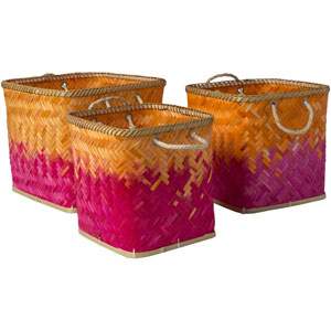 Naturita Bright Orange and Bright Pink Basket