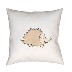 Nursery Brown and White 18 x 18-Inch Throw Pillow