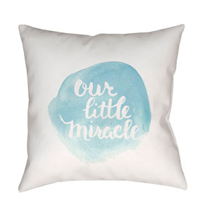 Miracle Blue and White 20 x 20-Inch Throw Pillow
