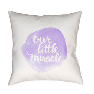 Miracle Purple and White 18 x 18-Inch Throw Pillow
