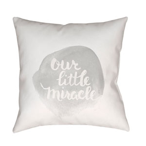 Miracle Gray and White 18 x 18-Inch Throw Pillow