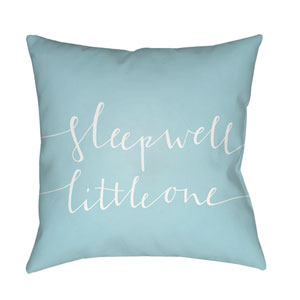 Little One Blue and White 18 x 18-Inch Throw Pillow