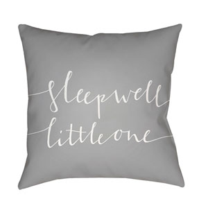 Little One Gray and White 18 x 18-Inch Throw Pillow