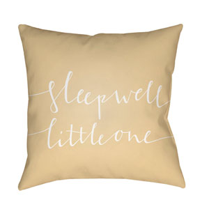 Little One Yellow and White 18 x 18-Inch Throw Pillow