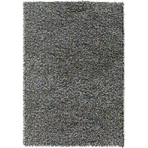 Newton Black and Blue Rectangular: 5 Ft. 7-Inch x 7 Ft. 11-Inch Rug