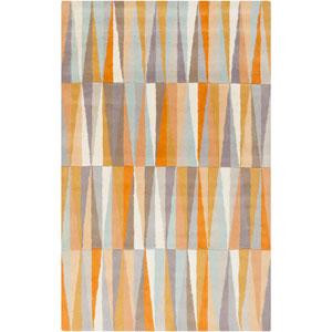 Oasis Burnt Orange and Gray Rectangular: 2 Ft x 3 Ft Rug