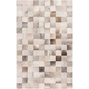 Olympus Taupe and Eggplant Rectangular: 2 Ft x 3 Ft Rug