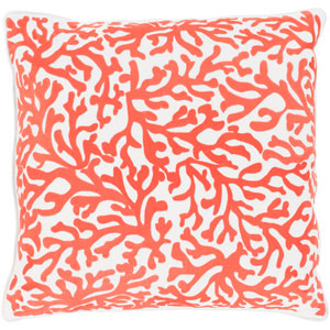 Osprey White and Bright Orange 22 x 22 In. Throw Pillow