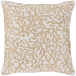 Osprey Khaki and Cream 20 x 20 In. Throw Pillow Cover