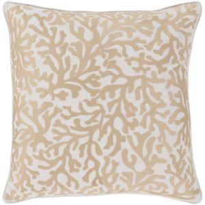 Osprey Khaki and Cream 20 x 20 In. Throw Pillow