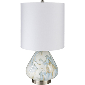 Orleans White and Blue One-Light Table Lamp