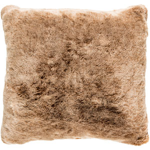Otso Brown and Neutral 22-Inch Pillow with Poly Fill