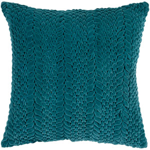 Teal Green Pucker 18 x 18 Pillow