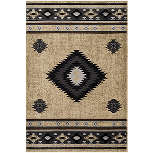 Paramount Charcoal and Dark Grey Rectangular: 6 Ft. 7 In. x 9 Ft. 6 In. Rug