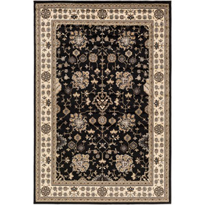 Paramount Black and Neutral Rectangular: 6 Ft 7 In x 9 Ft 6 In Rug