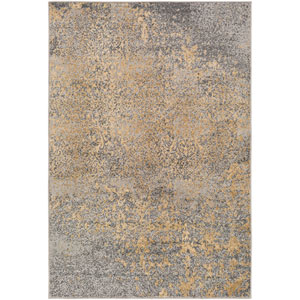 Paramount Blue and Black Rectangular: 6 Ft 7 In x 9 Ft 6 In Rug