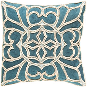 Pastiche Blue and Neutral 18-Inch Pillow Cover
