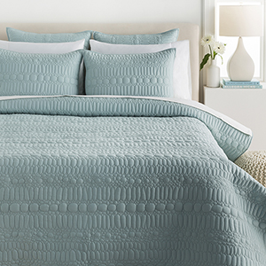 Pebble Aqua Full/Queen Three-Piece Duvet Set