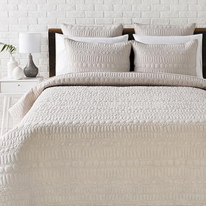 Pebble Light Grey Full/Queen Three-Piece Duvet Set