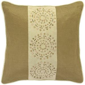 Shades of Tan Circle 18 x 18 Pillow