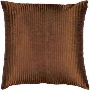 Brown Ribbed 18 x 18 Pillow