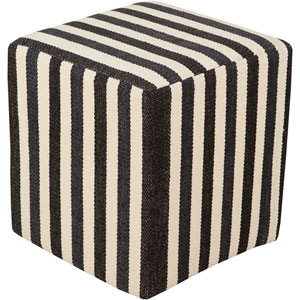 Black and Neutral Picnic Cube Pouf
