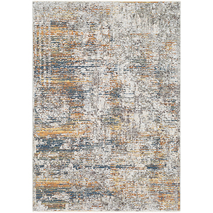 Presidential Bright Blue and Burnt Orange Rectangular: 9 Ft. x 13 Ft. 1 In. Rug