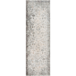 Presidential Grey and White Runner: 3 Ft. 3 In. x 10 Ft. Rug