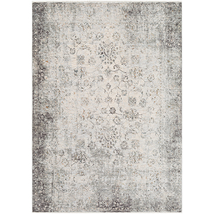 Presidential Grey and White Rectangular: 9 Ft. x 13 Ft. 1 In. Rug