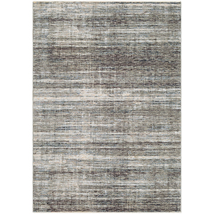 Presidential Grey and Black Rectangular: 7 Ft. 10 In. x 10 Ft. 3 In. Rug