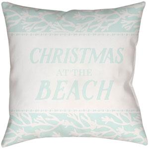 Sea-sons Greetings Seafoam 18 x 18-Inch Throw Pillow