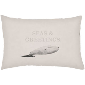 Seas and Greetings Sand 24 x 14-Inch Throw Pillow