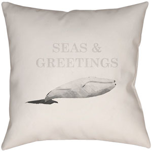 Seas and Greetings Sand 16 x 16-Inch Throw Pillow