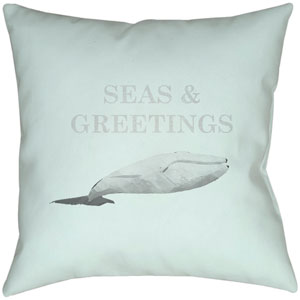 Seas and Greetings Seafoam 18 x 18-Inch Throw Pillow