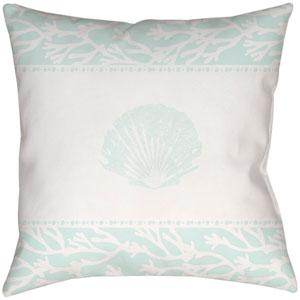 Sea salt and Seashells Seafoam 18 x 18-Inch Throw Pillow